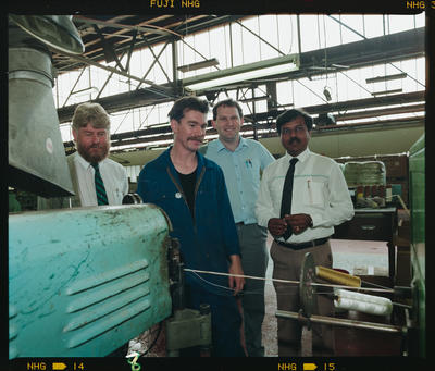 Negative: Four Men In Factory