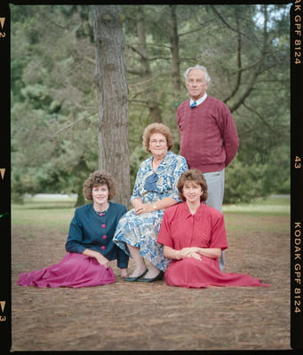 Negative: Harding Family Portrait