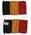 Flag, miniature Belgian