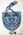 Purse: Beaded Blue Straw Cloth