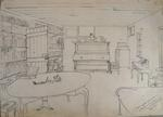 Sketch: Interior of the Sitting Room of Blackwall House