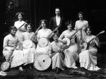 Glass Plate Negative: Portrait of Christchurch Ladies Banjo Band