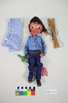 Marionette: Hobo with wine bottle
