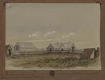 Painting: The Parsonage and Grammar School, and the Temporary Church and School
