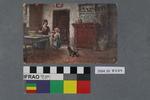 Postcard: Woman and girl
