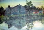 Painting: Radley Wharf, Heathcote River