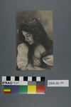 Postcard of a woman with dark hair