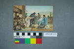 Postcard of a slave market