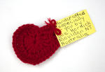 Heart for Christchurch: Knitted, with Note
