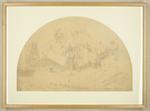 Mountfort Drawing: Design for Canterbury Provincial Council Buildings, 1855