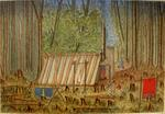 Painting: Ohoka Bush, 1854, Slab & Canvas Hut