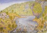 Painting: Family picnic, Kahu; Studholmes; Koln (German)