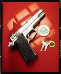 Transparency: Gun And Keys On Lotus