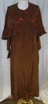 Dress: Brown Crepe-de-Chine