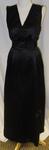 Dress, black silk two-piece