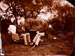 Glass Plate Negative: Lord Lyttelton and Henry Selfe