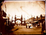 Glass Plate Negative: Arch in honour of Prince Alfred