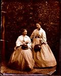 Glass Plate Negative: Two Ladies