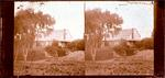 Glass Plate Negative Stereograph Slide: House