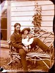 Glass Plate Negative: Man with a Child