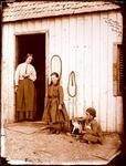 Glass Plate Negative: Mrs Peake and Children, Ohapi