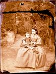 Glass Plate Negative: Woman and Child