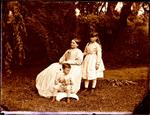 Glass Plate Negative: Woman and Two Children