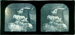 Glass Plate Positive Stereograph Slide: Mary Barker