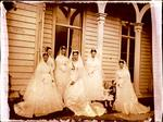 Glass Plate Negative: Alice Hawden and her Bridesmaids