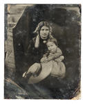 Glass Plate Ambrotype: Emma and Mary Barker
