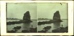 Glass Plate Positive Stereograph Slide: Shag Rock