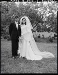 Film negative: Struthridge and Fogarty wedding, bride and groom