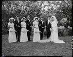 Film negative: Struthridge and Fogarty wedding, party of eight