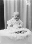 Glass Plate Negative: Mrs L J Watt. (baby photograph)