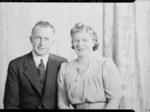 Film Negative: Mr E K Newton. (A unidentified female companion is also in the photograph)