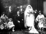 Glass Plate Negative: Mr H S Marlow with wedding party