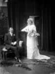 Glass Plate Negative: Mr L Boon with bride
