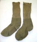 Socks: Green Woollen