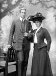 Glass Plate Negative: Mrs J F Grierson with unnamed man