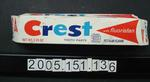Toothpaste Package: Crest, Regular Flavour