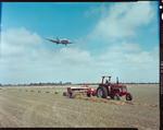 Film Negative: International Harvester Company: baler at Harewood, H5748 plane above