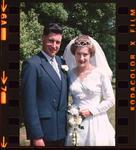 Film Negative: Shaw-Petrie wedding, bride and groom