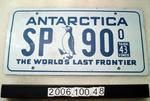 """Customised number plate """"Antarctica SP 90 Task force 43 the world's last great frontier"""""""