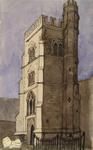 Painting: Salcombe Church Tower, August 1836