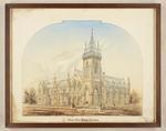 Pencil and Watercolour: Supreme Court Buildings, Christchurch