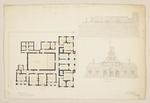 Mountfort Architectural Plan: Supreme Court Buildings, Christchurch, 1864