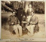 Photograph: Four Men in Alfred Charles Barker's Garden