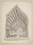Mountfort Ink Drawing: Anglican Church of the Good Shepherd, Phillipstown, 1884
