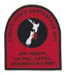 Commemorative Badge: Australian Emergency Services, Christchurch Earthquake 2011