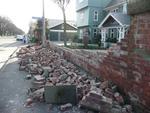 Digital Photograph: Red brick fence